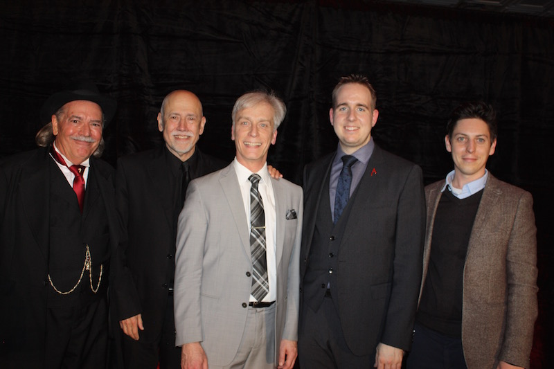 "The Evening Gala show: (L to R) ""Pop"" Haydin, Michael Close, Chris Pillsowrth, (some guy), Nicholas Wallace"