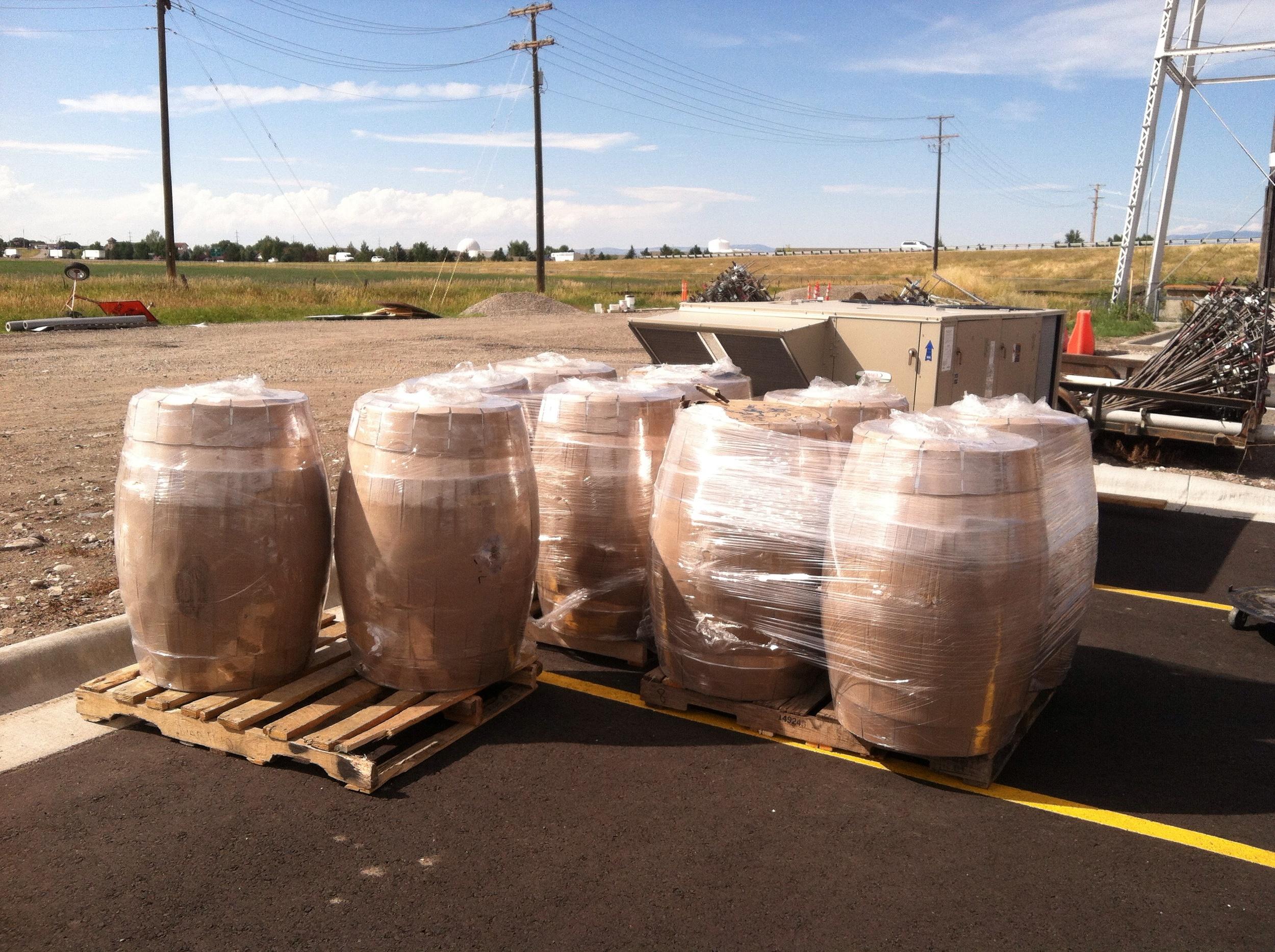 10 White American Oak Fermentation Barrels!