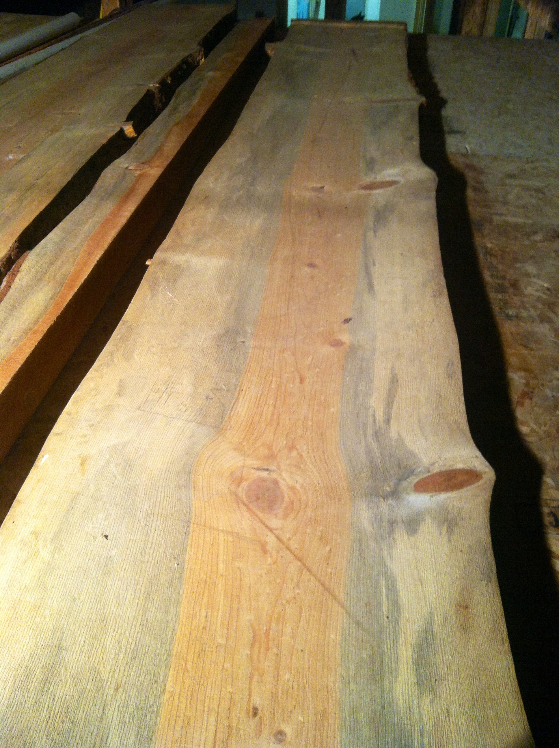 12' ponderosa beetle kill stained pine for bar top. (1 of 2)
