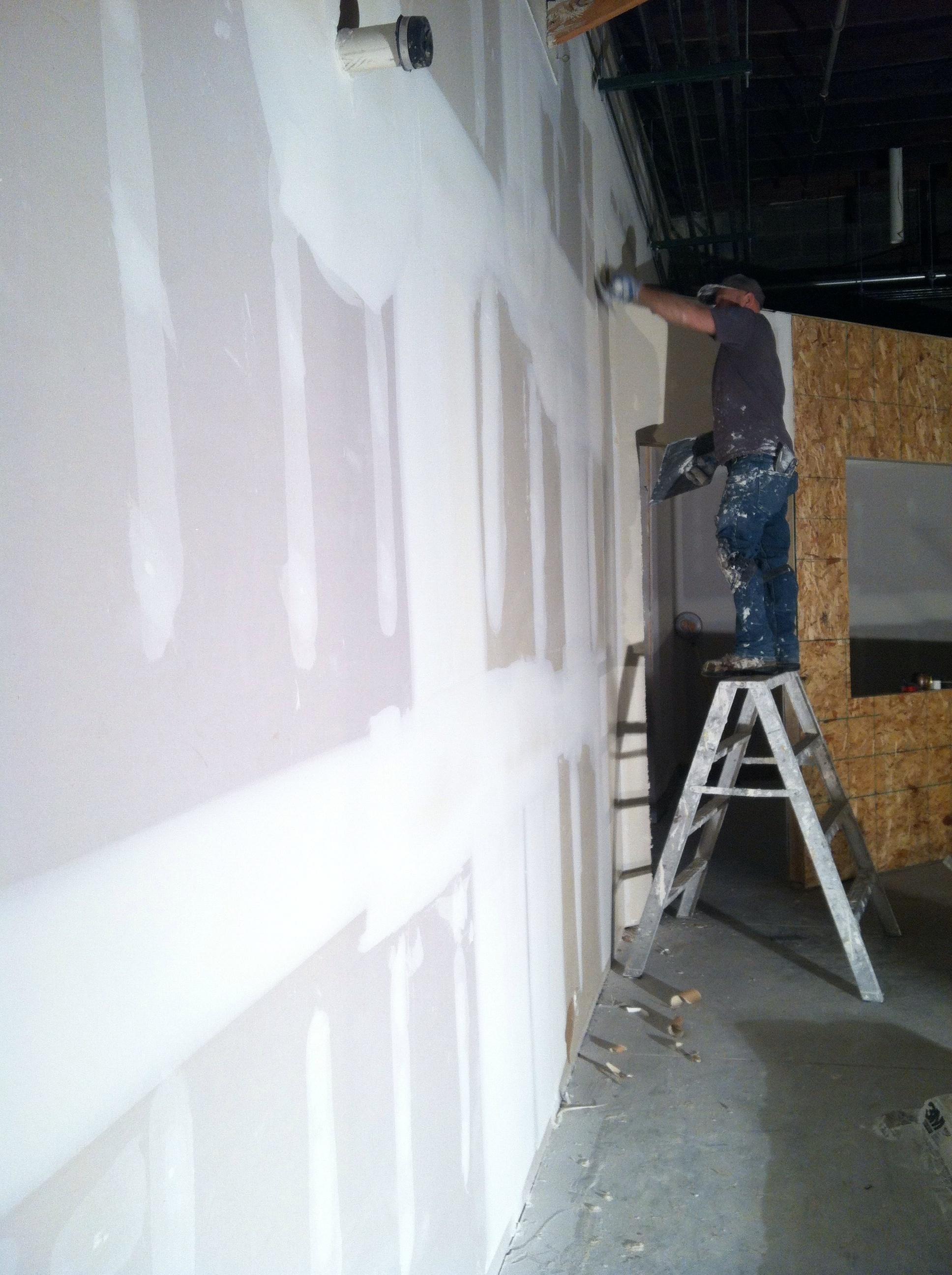 Drywall taping and mudding