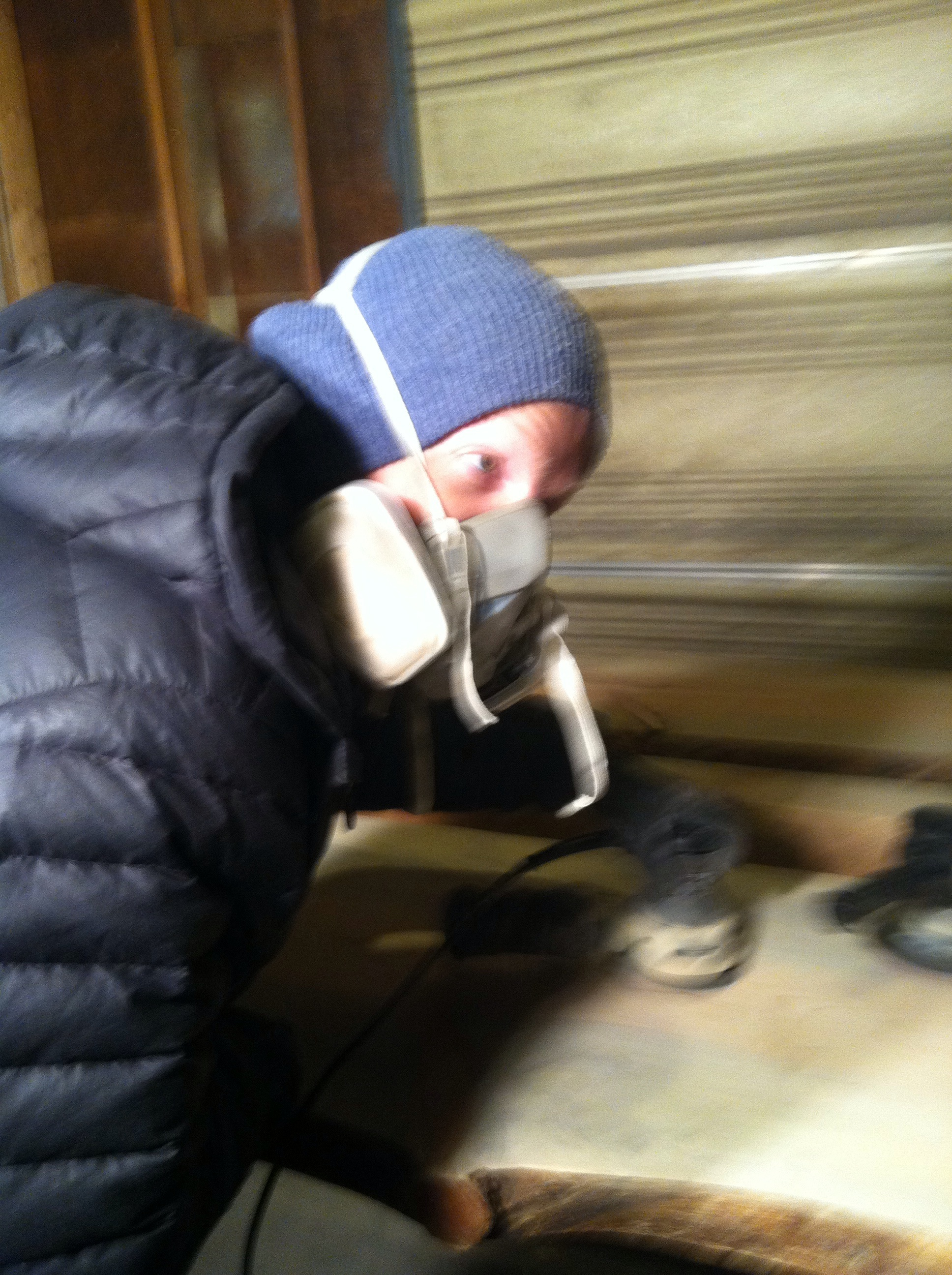 Joe Sheehan #bosshog sanding the bar down