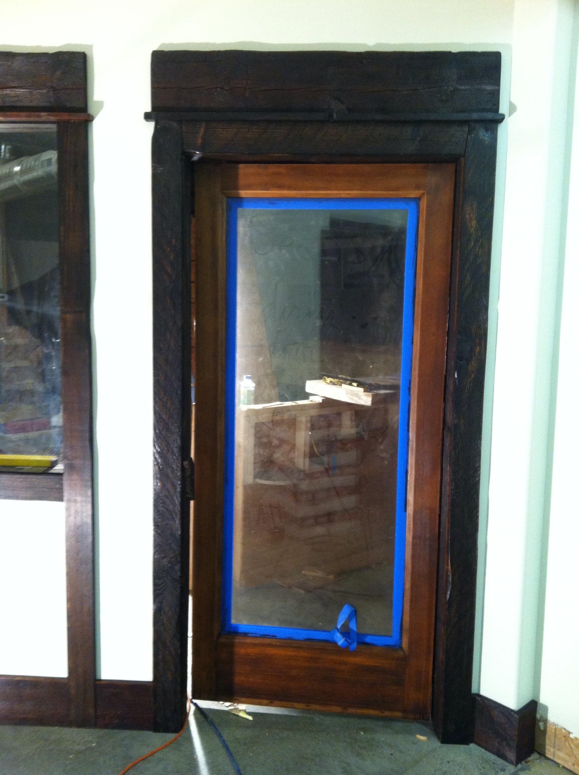 Hallway trim and door installation