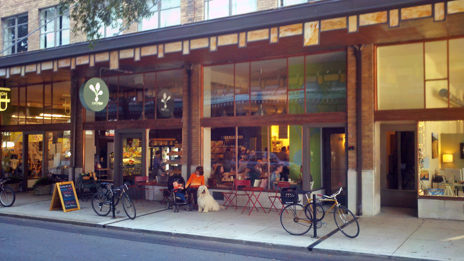 downtown storefront