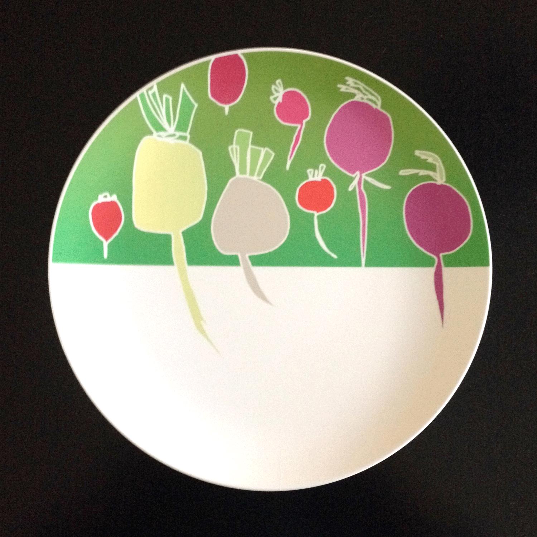 radishes and turnips plate