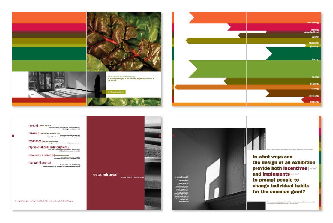 MFA thesis process book (sample spreads set 1)