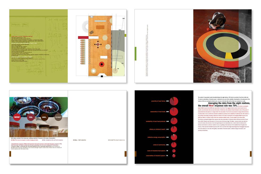 MFA thesis process book (sample spreads set 2)