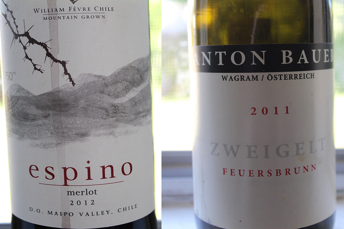 Both of these wonderful wines came from the Williams-Sonoma Explorer Club.