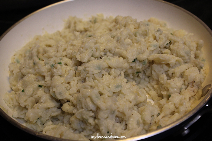 Cook the spaetzle until crunchy and browned.