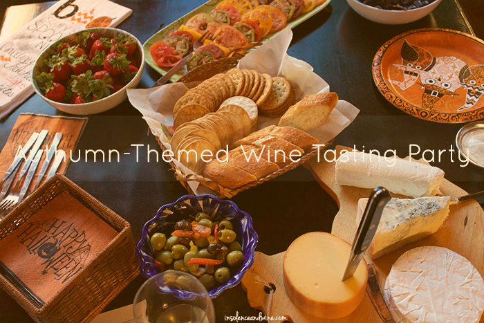 autumn themed wine tasting party insolence + wine