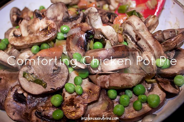 comforting chicken potpie insolence + wine