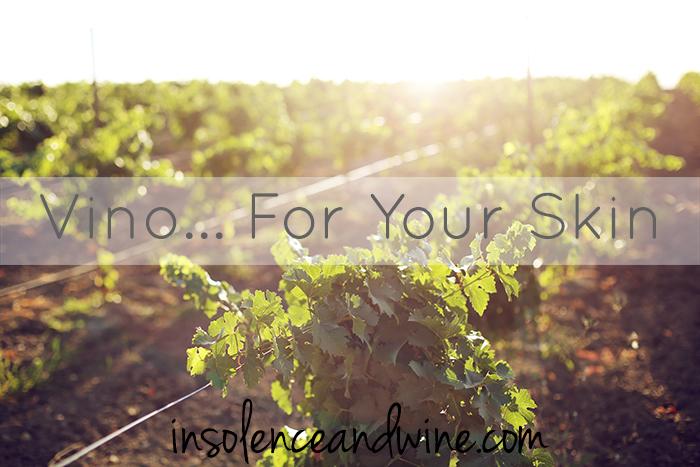 caudalie skincare vino wine grapes insolence + wine