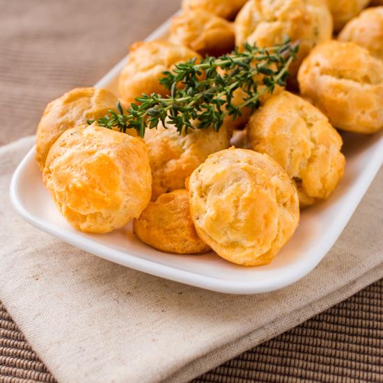 Herbed Gruyer Cheese Puffs via  F&B Department