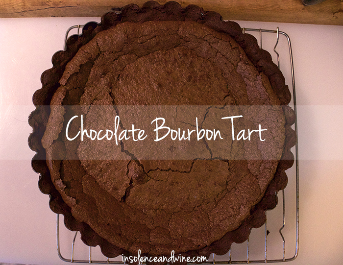 chocolate bourbon tart