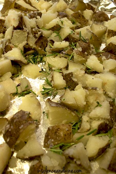 crispy rosemary potatoes insolence + wine