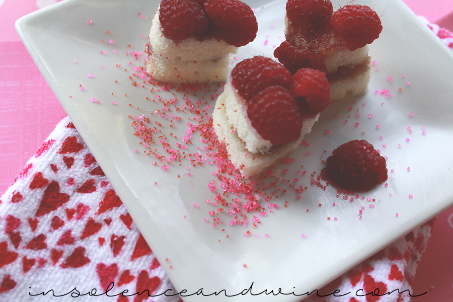 valentines day cake insolence + wine