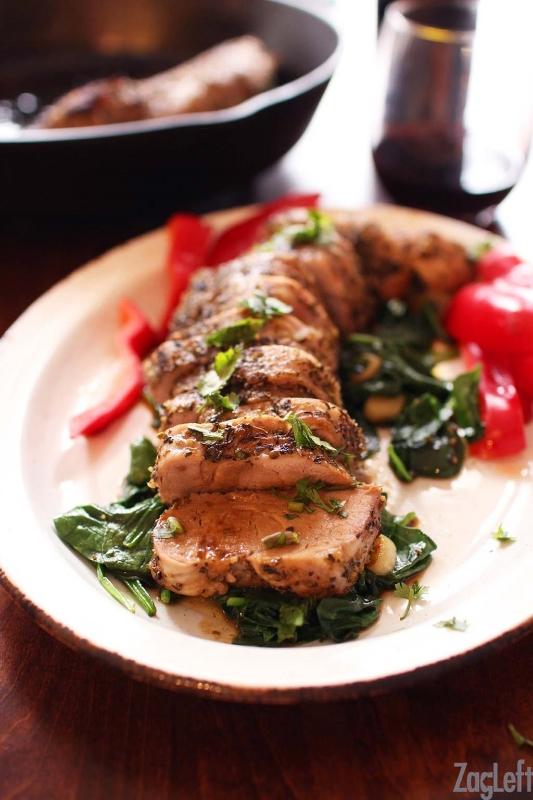 Herb Crusted Pork Tenderloin via  Zagleft