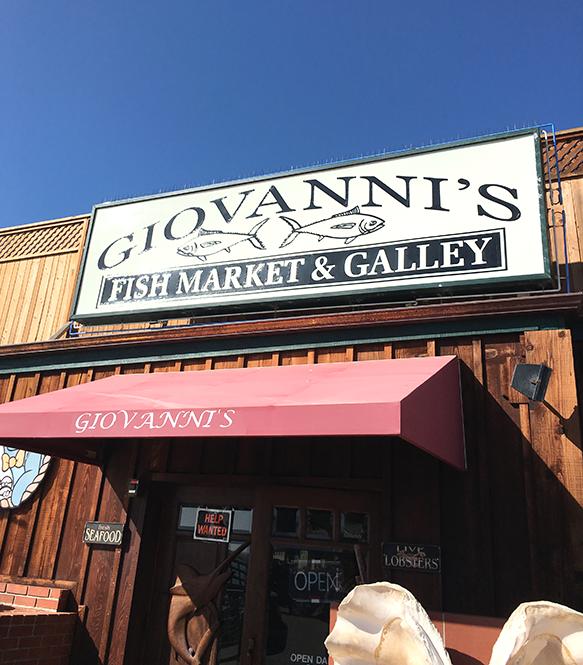 Giovanni's Fish Market insolence + wine