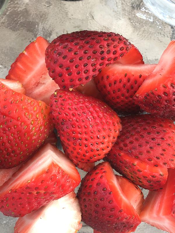 strawberries in wine insolence + wine