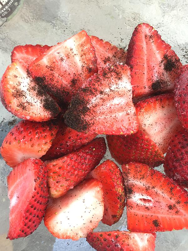 strawberries in wine merlot zinfandel insolence + wine