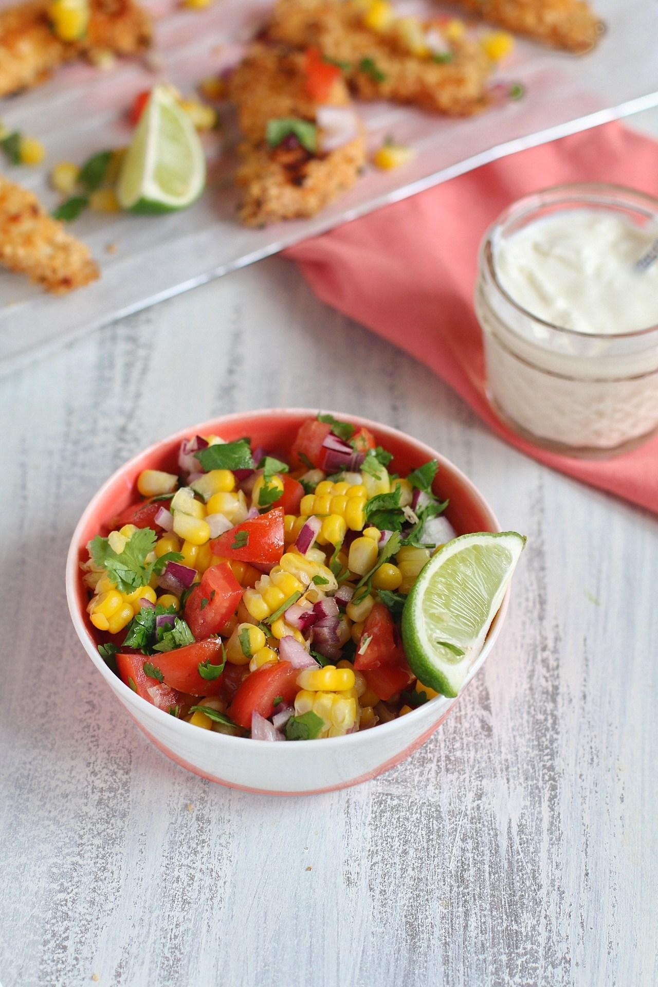 Easy Fresh Corn and Tomato Salsa