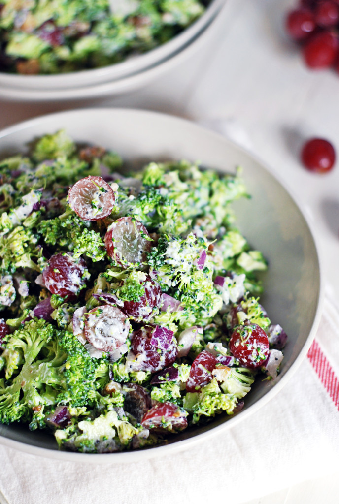 Chopped Broccoli Salad with Poppy Seed Dressing