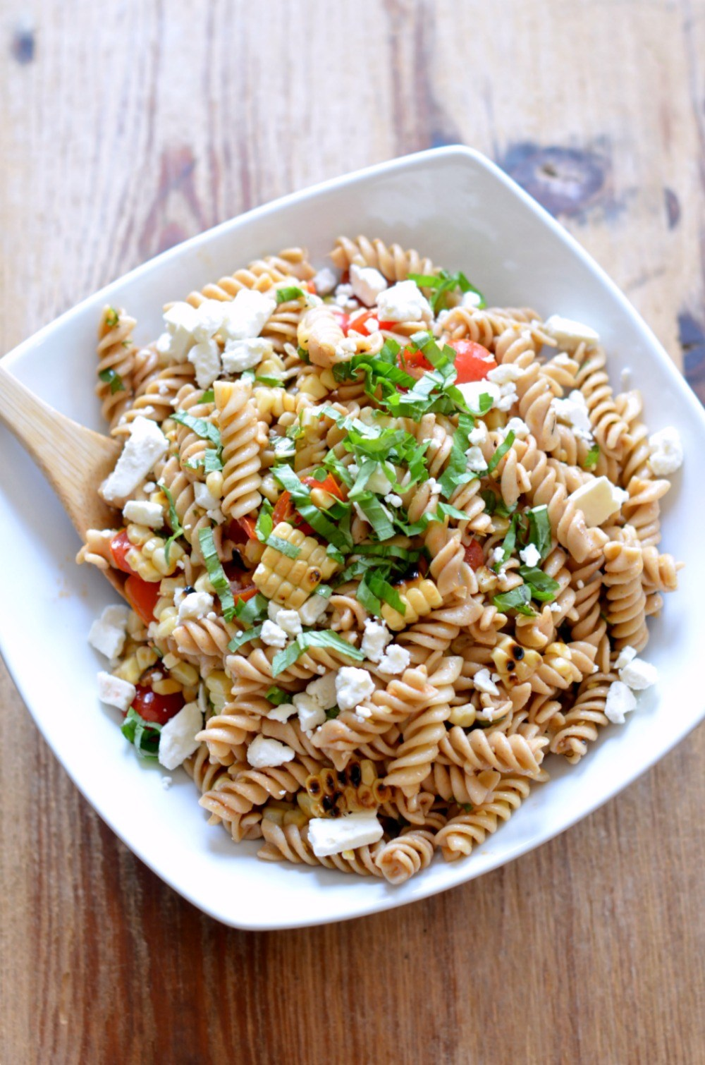 Summer Pasta Salad with Grilled Corn and Tomatoes