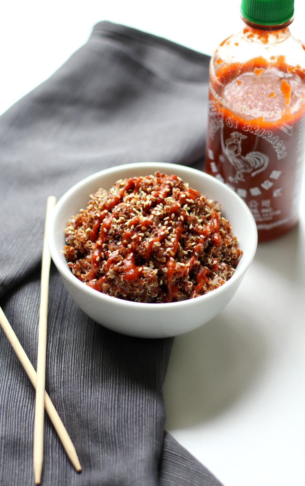 Spicy Red Sriracha Quinoa