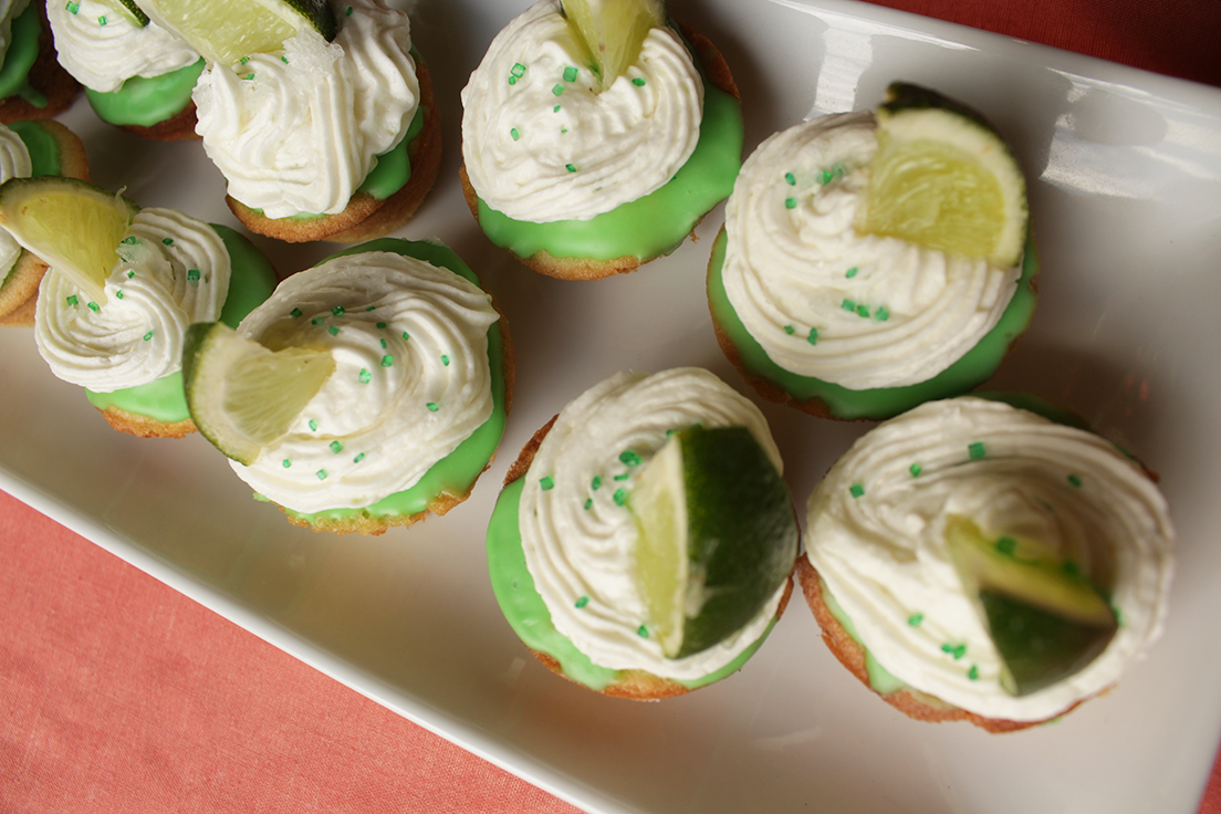 Margarita cupcakes, cinco de mayo, lime and tequila cupcakes insolence + wine