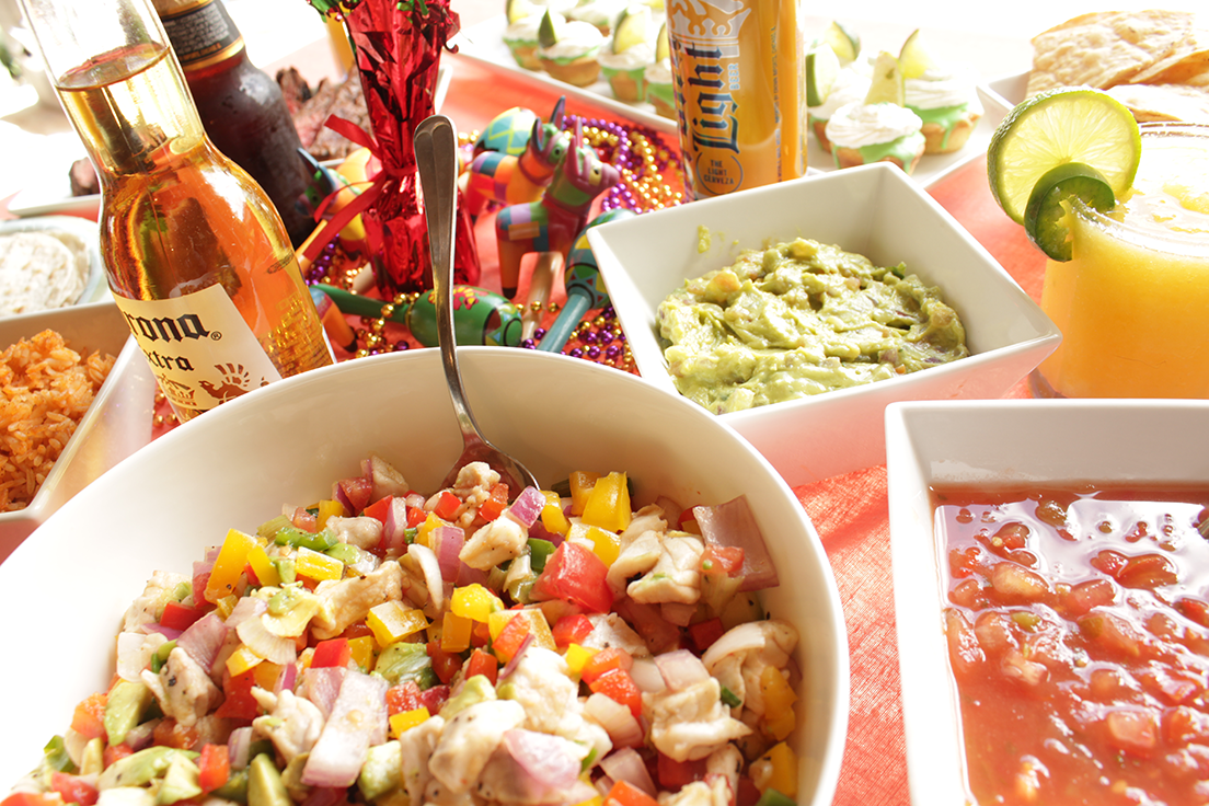 Easy fish ceviche recipe for a Cinco de Mayo fiesta or a summertime pool party. insolence + wine