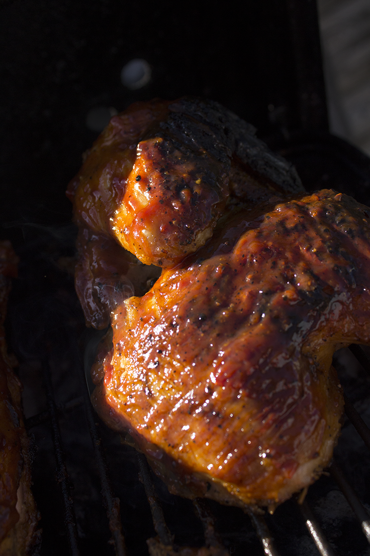 Grilled Chicken with Southwestern-inspired barbecue sauce is perfectly paired with Albariño wine.