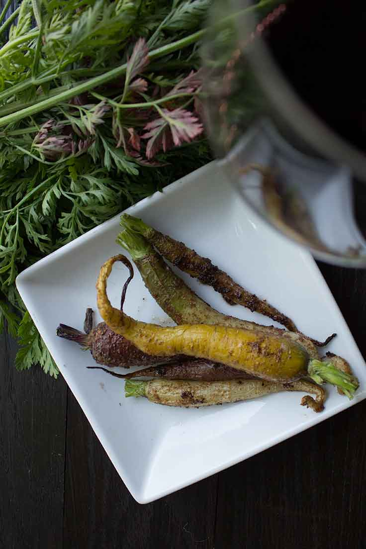 Roasted Spice Rainbow Carrots