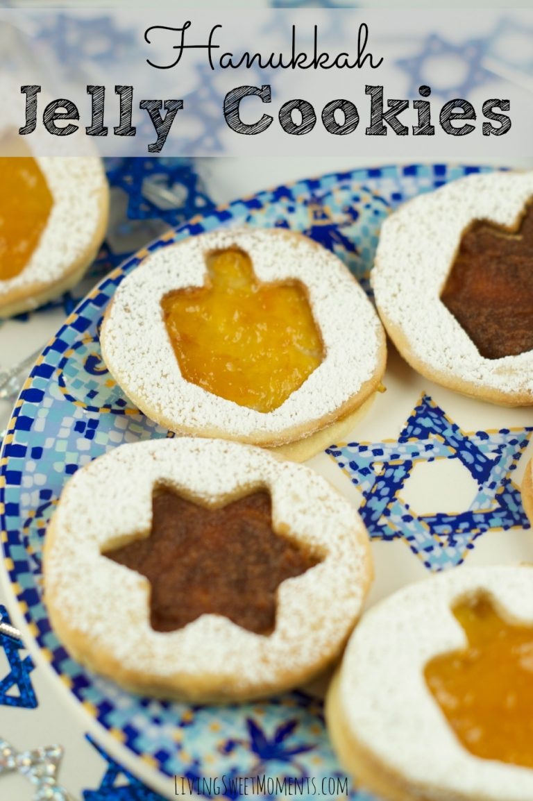 These Hanukkah jelly cookies from  Living Sweet Moments  are attention grabbing and adaptable.