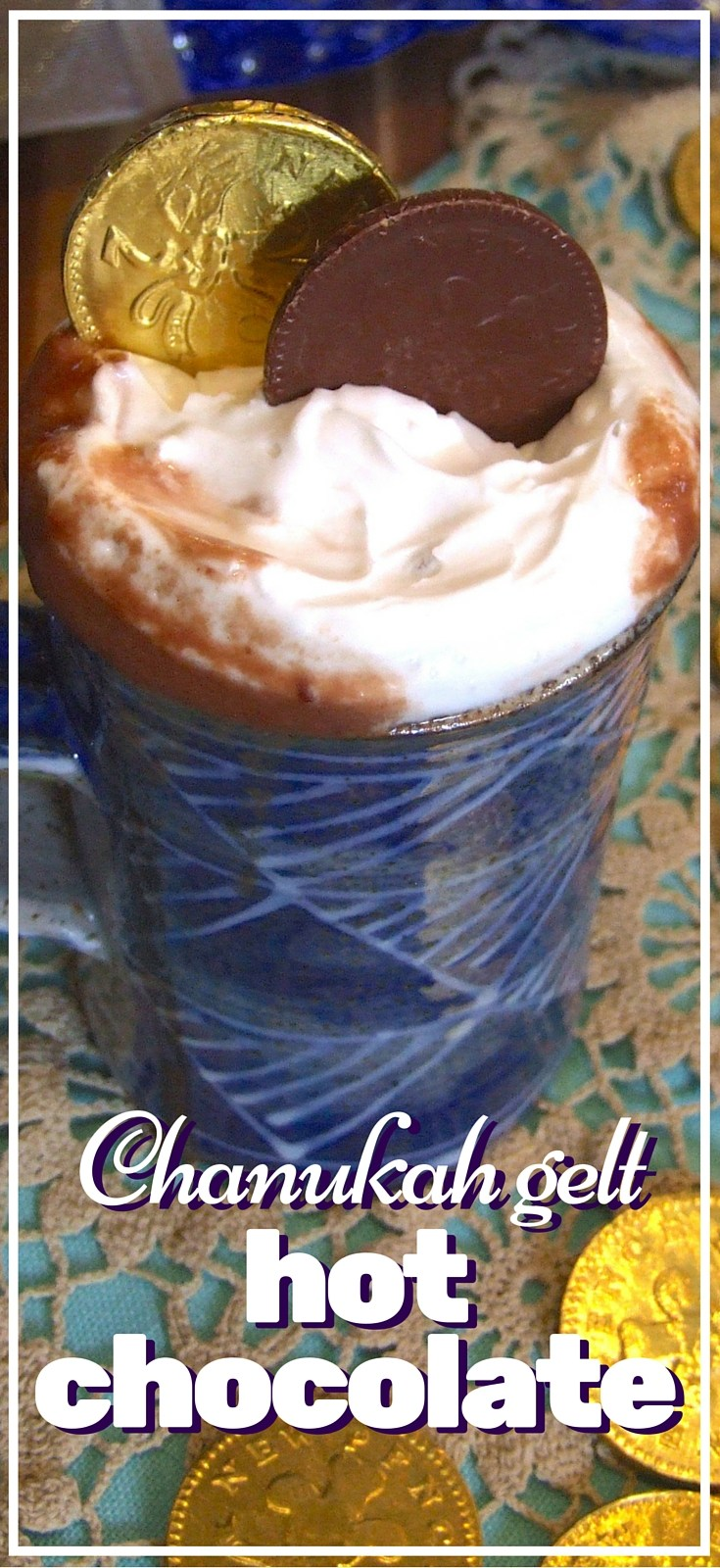 This clever hot chocolate recipe from  Family Friends Food  uses Hanukkah gelt to make hot chocolate. Brilliant!