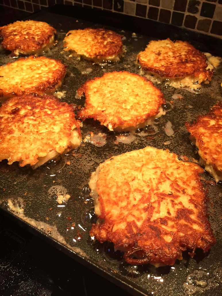 These potato pancakes from  Melanie Cooks  is a traditional take on latkes.