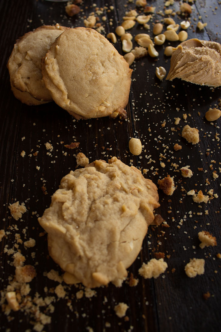 Peanut Butter Cookies with a crunchy, sugary topping.
