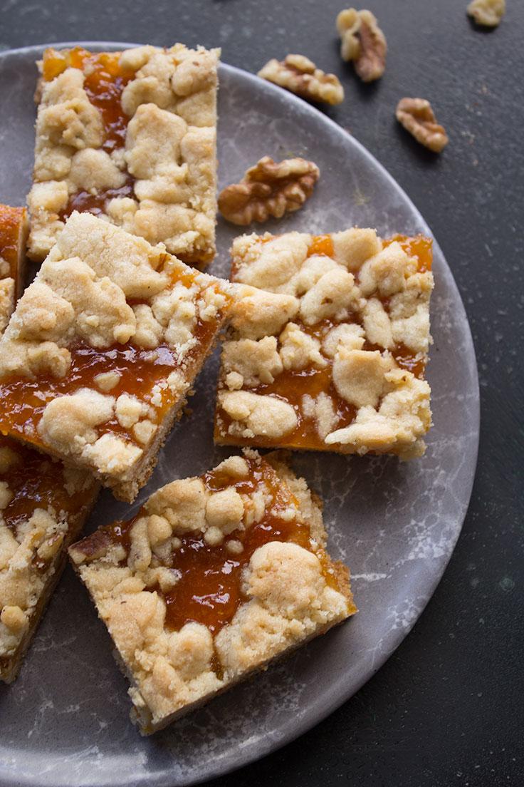 Apricot walnut cookies
