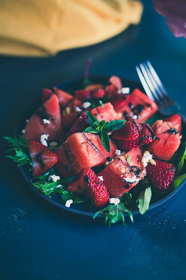 Delicate but not subtle watermelon caprese salad is what summer dreams are made of. | insolenceandwine.com