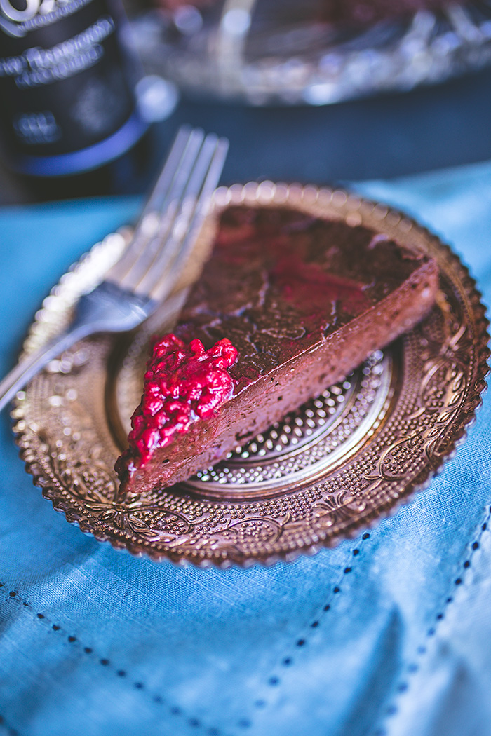 Easy chocolate torte is perfect for Father's Day, birthday celebrations, holiday dinners or in those moments when you need a rich chocolate dessert in your life. | insolenceandwine.com