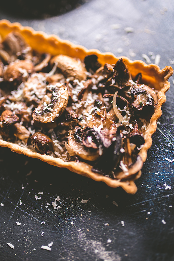 This mushroom tart can be easily and quickly put together and pairs best with a medium-bodied red wine.
