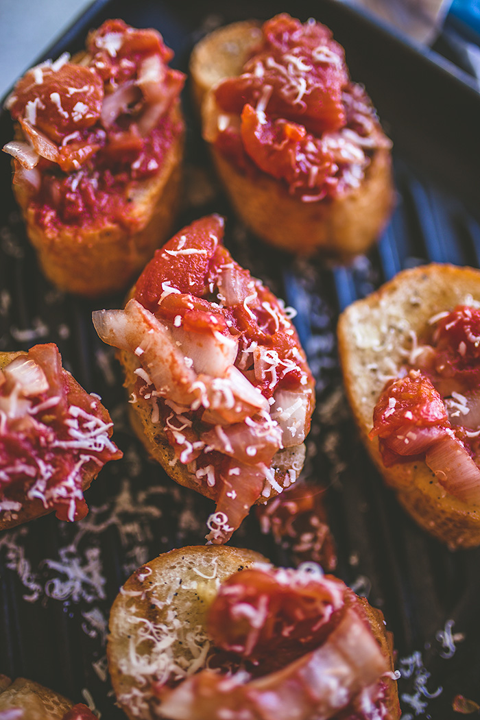 This bruschetta can be made on the grill, which makes it perfect for outdoor entertaining or adventures. | insolenceandwine.com