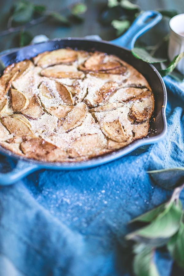 Holiday favorite: one pan German Apple Pancake is more custard than pancake, but oh, so delicious.