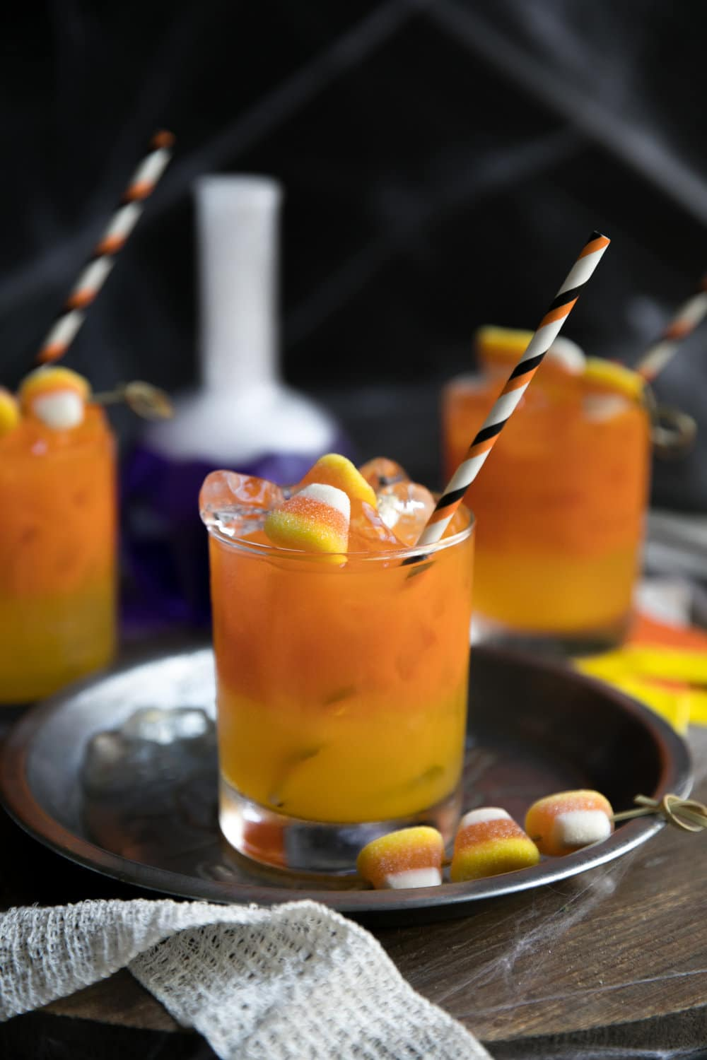 Candy Corn Inspired Cocktail