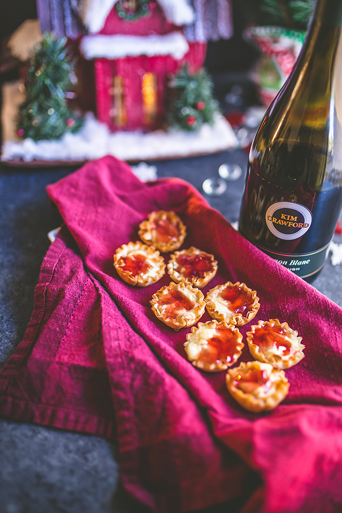 Baked brie jam bites make a perfect party appetizer throughout the holidays. | insolenceandwine.com