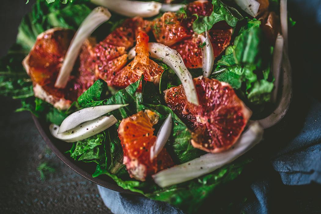 Refreshing fresh fennel and blood orange salad. | insolenceandwine