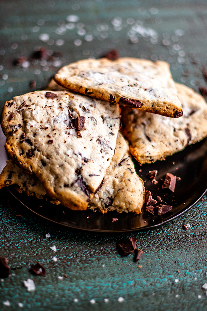 Sea salt chocolate chunk scones are the perfect midday boost.