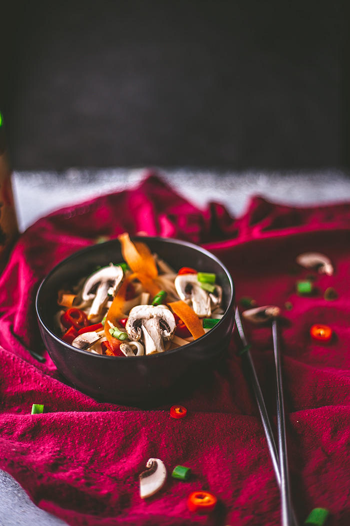 spicy vegan vegetable miso soup is on the table in less than 15 minutes. | insolenceandwine.com