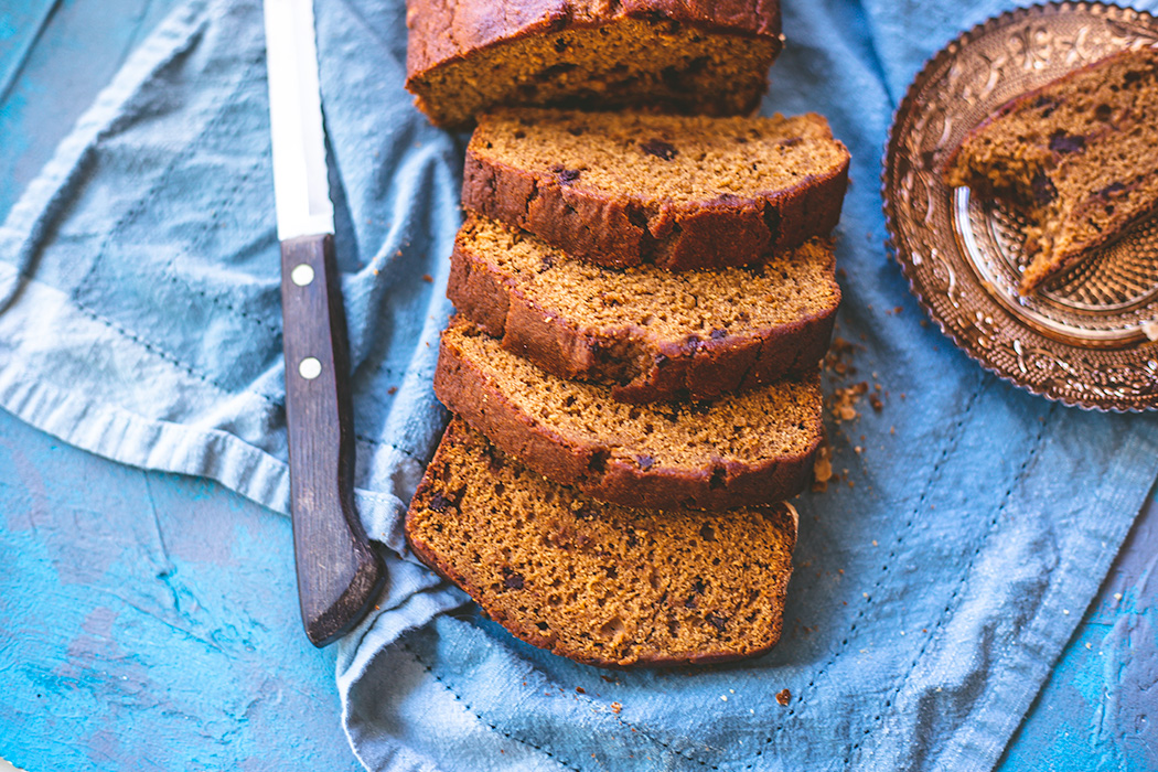 Enjoy this pumpkin chocolate chunk bread year-round, or wait until fall when it's socially acceptable to admit to eating pumpkin to your family and friends.