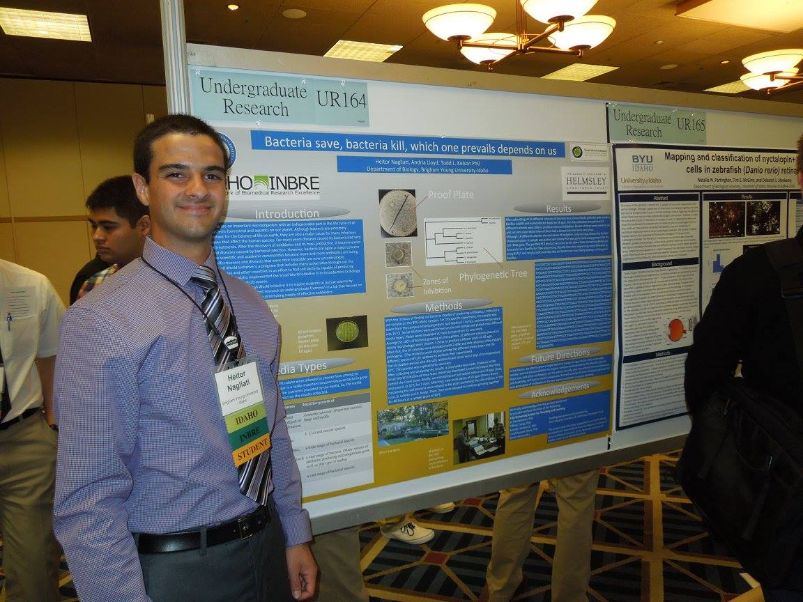 Todd Kelson's student Heitor Nagliati proudly presenting at the 2015 NIH IDeA Western Regional Conference