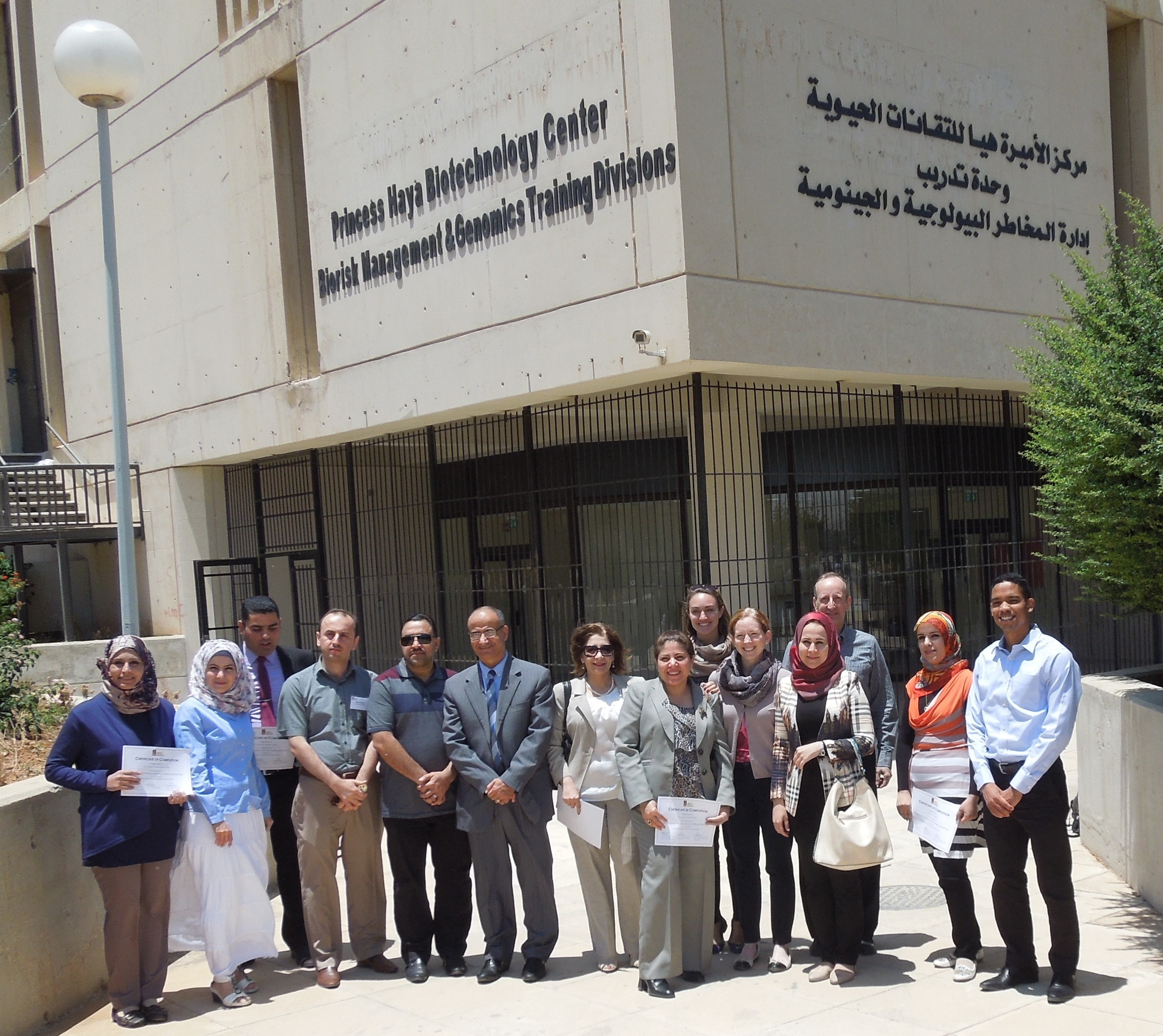 TODD KELSON  – BIOLOGY PROFESSOR AT  BRIGHAM YOUNG UNIVERSITY  – AND  SIMON HERNANDEZ  WITH FIRST MIDDLE EAST CLASS OF NEW SWI INSTRUCTORS IN IRBID, JORDAN.