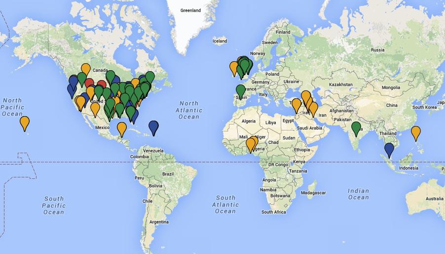 MAP OF SMALL WORLD INITIATIVE SCHOOLS